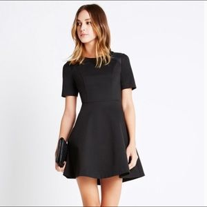 BCBGeneration Faux Leather Yoke Dress